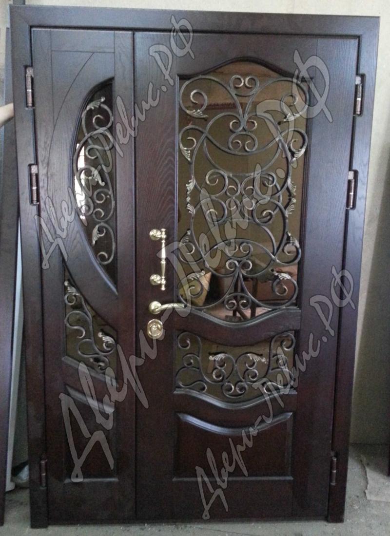 двери входные с элементами ковки на заказ